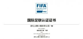 火炬FIFA认证 | 太舞小镇足球场1#2#皆达最高级别认证
